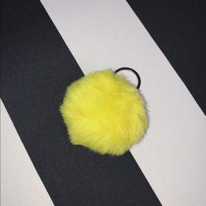 🎾 Pom Pom Keychain in Neon Yellow